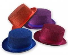 Coloured Lame Top Hat